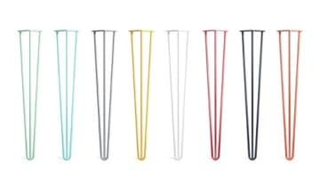4 x Hairpin Legs - Haarnadel Tischbeine - Farben & Größen wählbar - 10cm bis 86cm Höhe-3