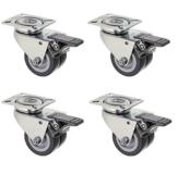 4er Set Rollen für Palettenmöbel - mit Bremse -  Tragkraft 400 kg- für Rasen geeignet