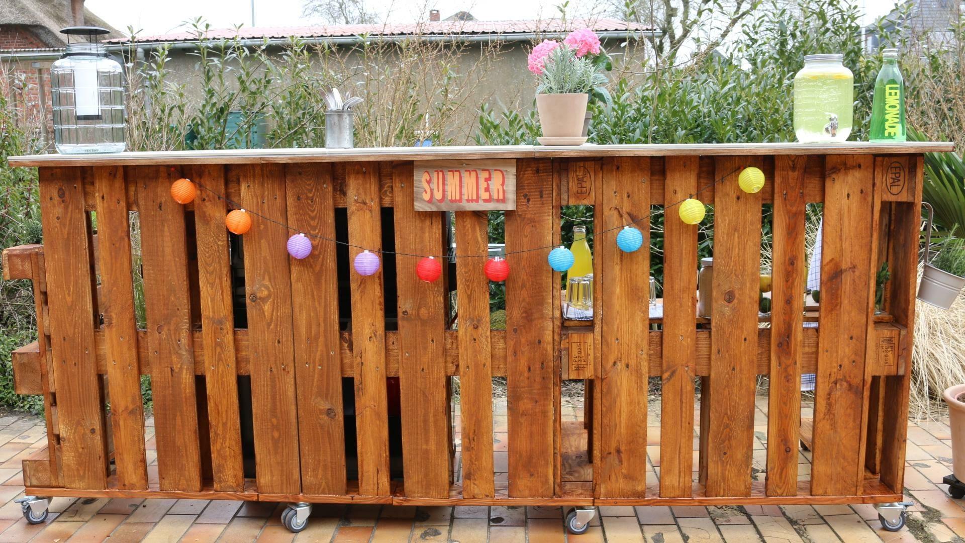 Bar aus Paletten-Palettenbar-Palettenmöbel Bar aus Europaletten