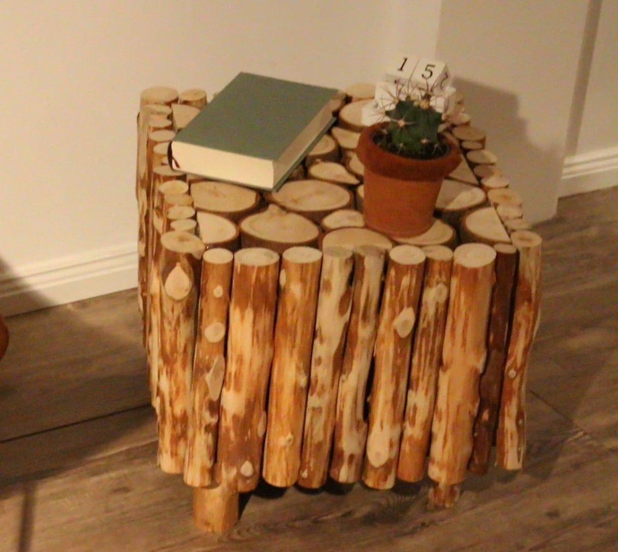 beistelltisch selber bauen diy 1 diy einfach selber. Black Bedroom Furniture Sets. Home Design Ideas