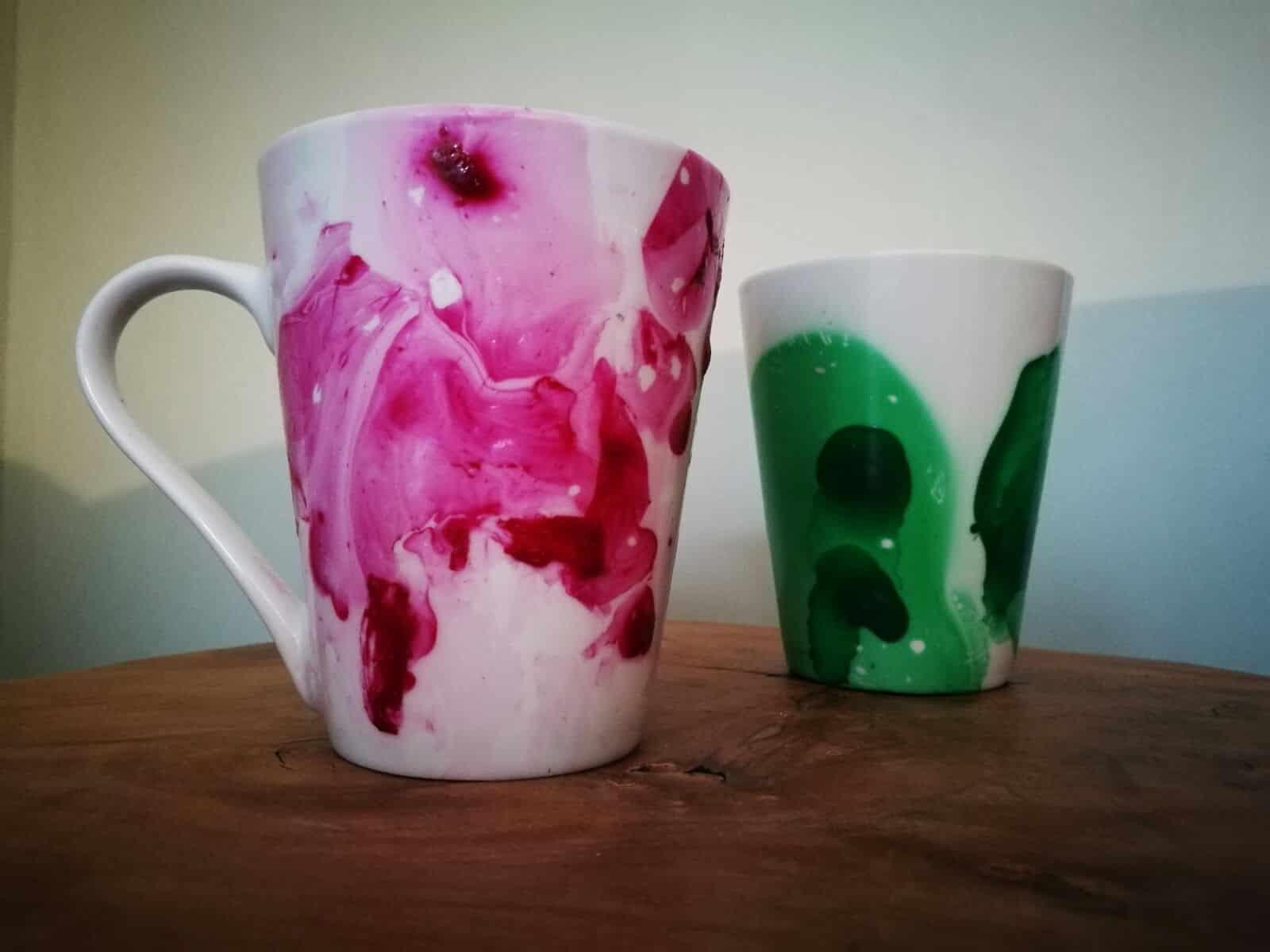 Kaffeetassen mit Farbe gestalten- DIY Idee