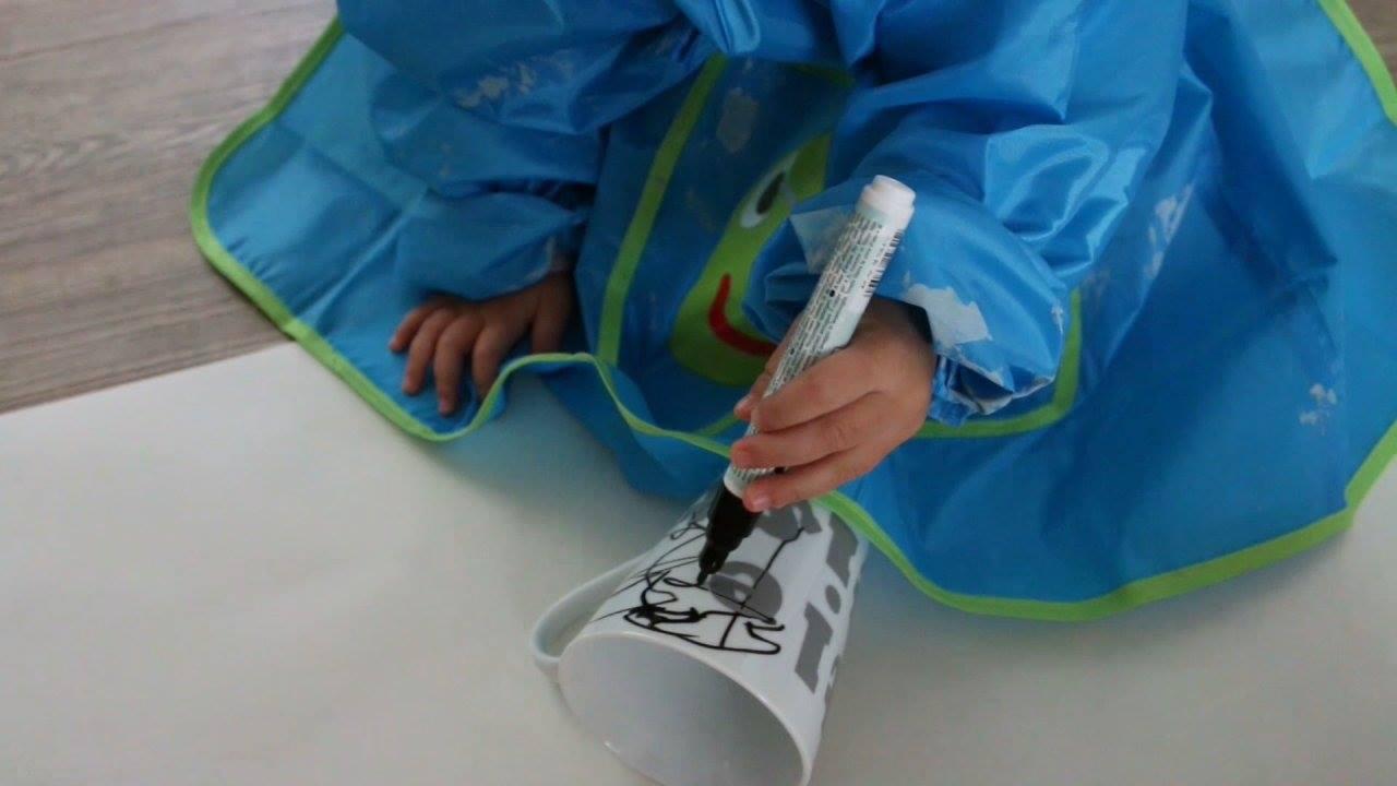 Kinder DIY - Tasse anmalen