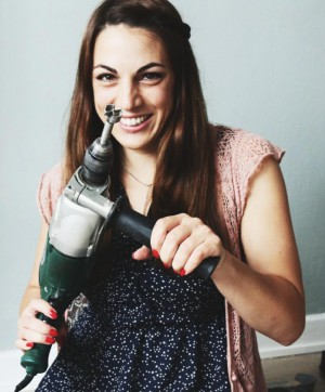 Sari mit der Bohrmaschine - DIY