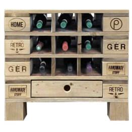 Flaschenregal Weinregal aus Europaletten Palettenmoebel