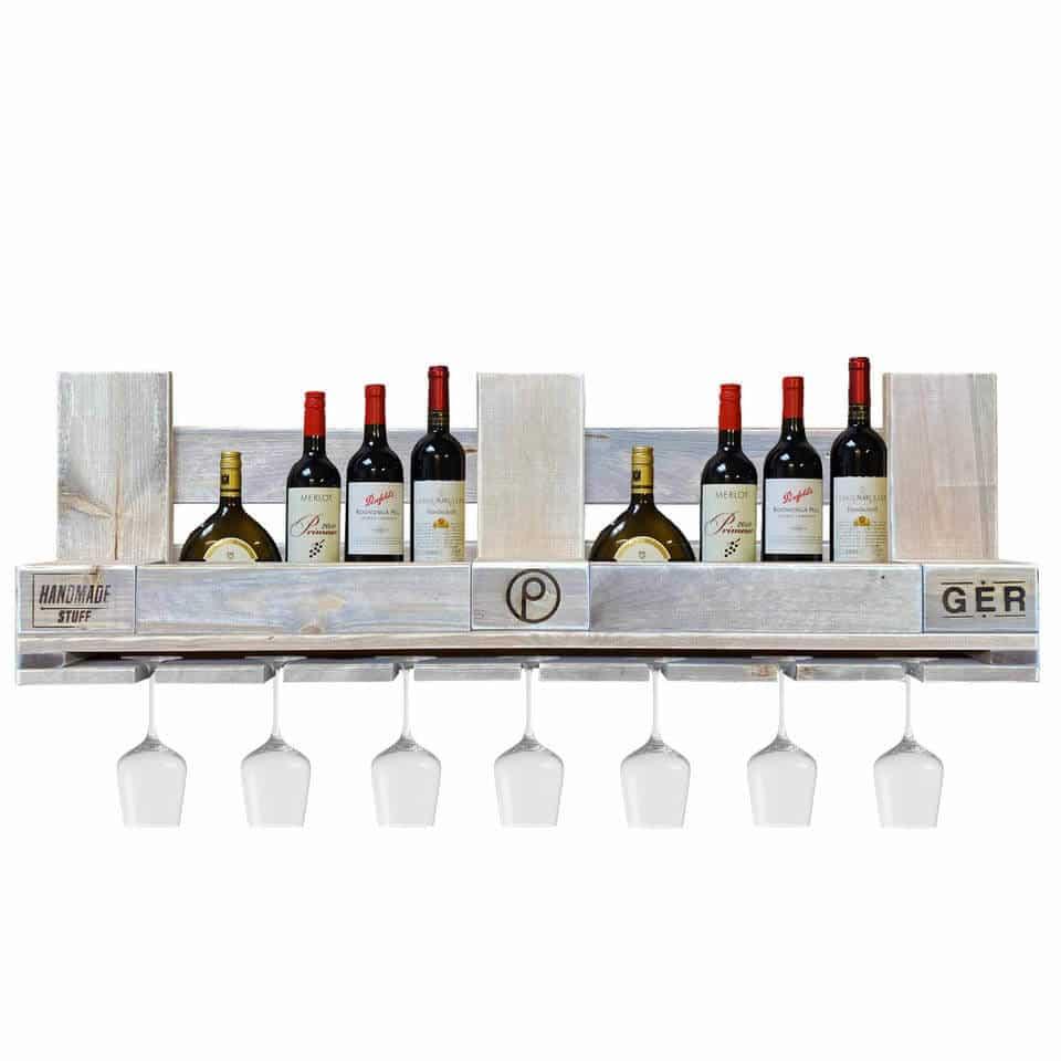 ᐅᐅ Weinregal aus Paletten – Flaschenregal | Europaletten Möbel Shop