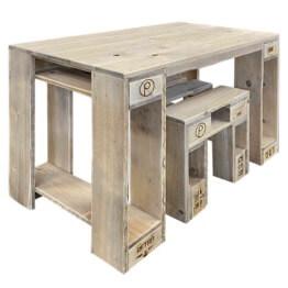 Garnitur Tisch Hocker aus Europaletten Palettenmoebel