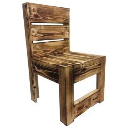 Geflammter Stuhl aus Europaletten Palettenmoebel