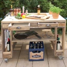 Grilltisch aus Paletten Premium Stone Palettenmoebel