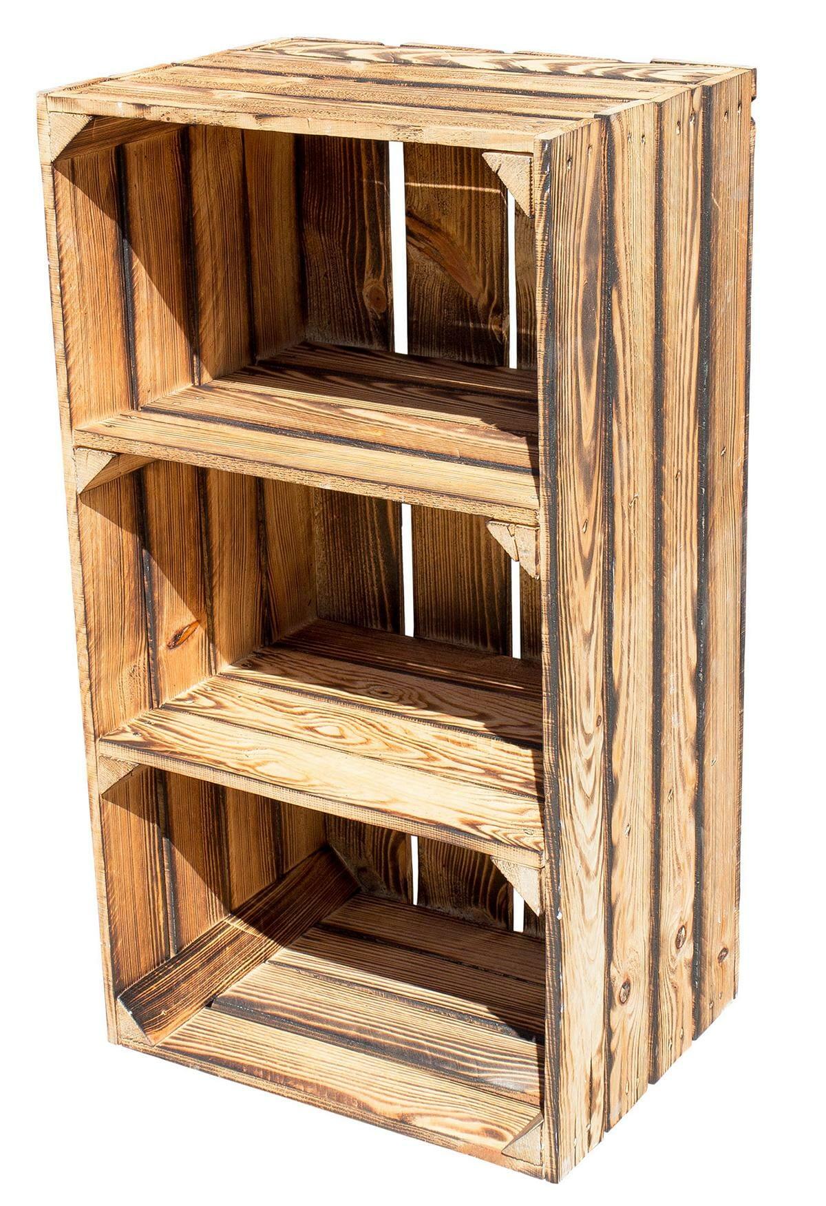 gro es obstkisten regal mit 2 regalb den vintage. Black Bedroom Furniture Sets. Home Design Ideas