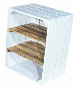 Holzregal-weiß