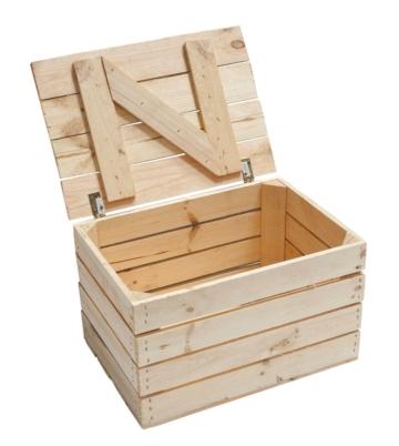 Holztruhe-Truhe-Obstkiste mit Deckel