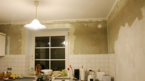 Küche umgestalten-Tapetenabriss -DIY - upcycling