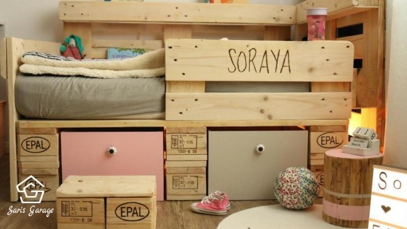 Kinderbett Aus Europaletten Selber Bauen  13