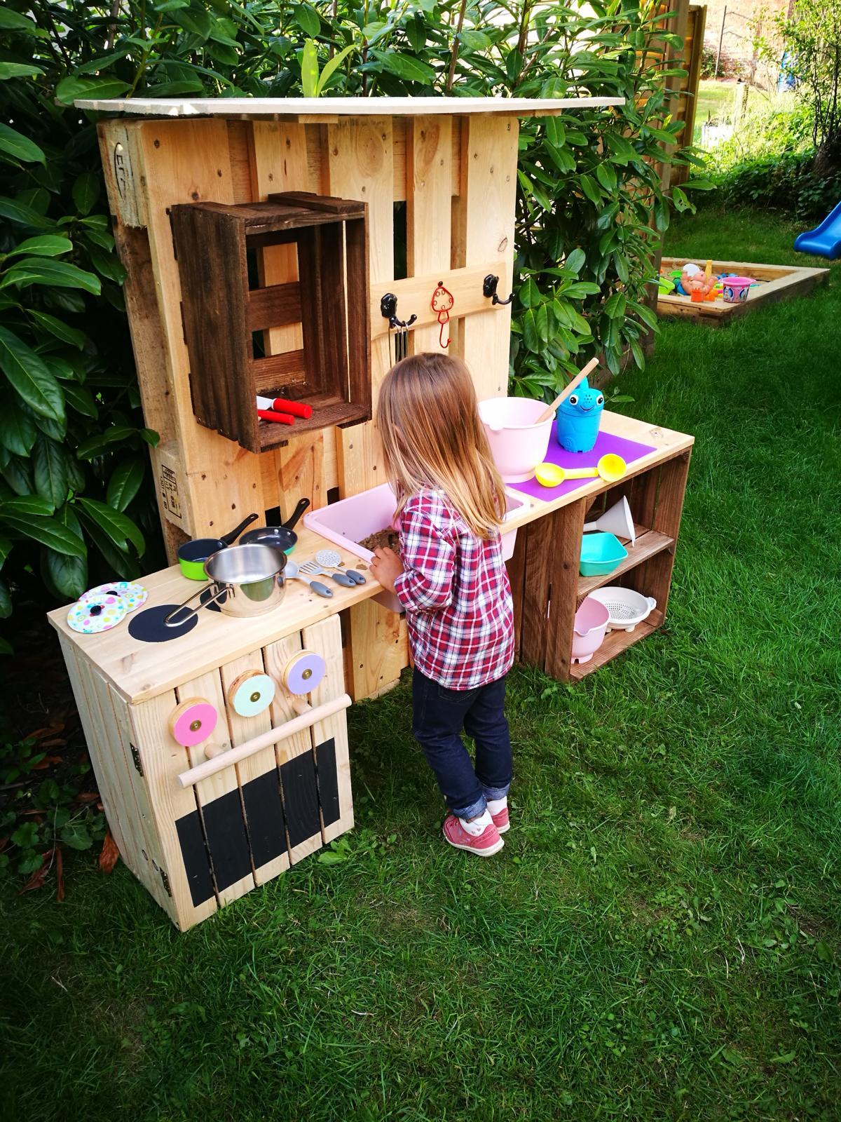 ᐅ Matschküche Selber Bauen Aus Paletten Obstkisten Kinderküche
