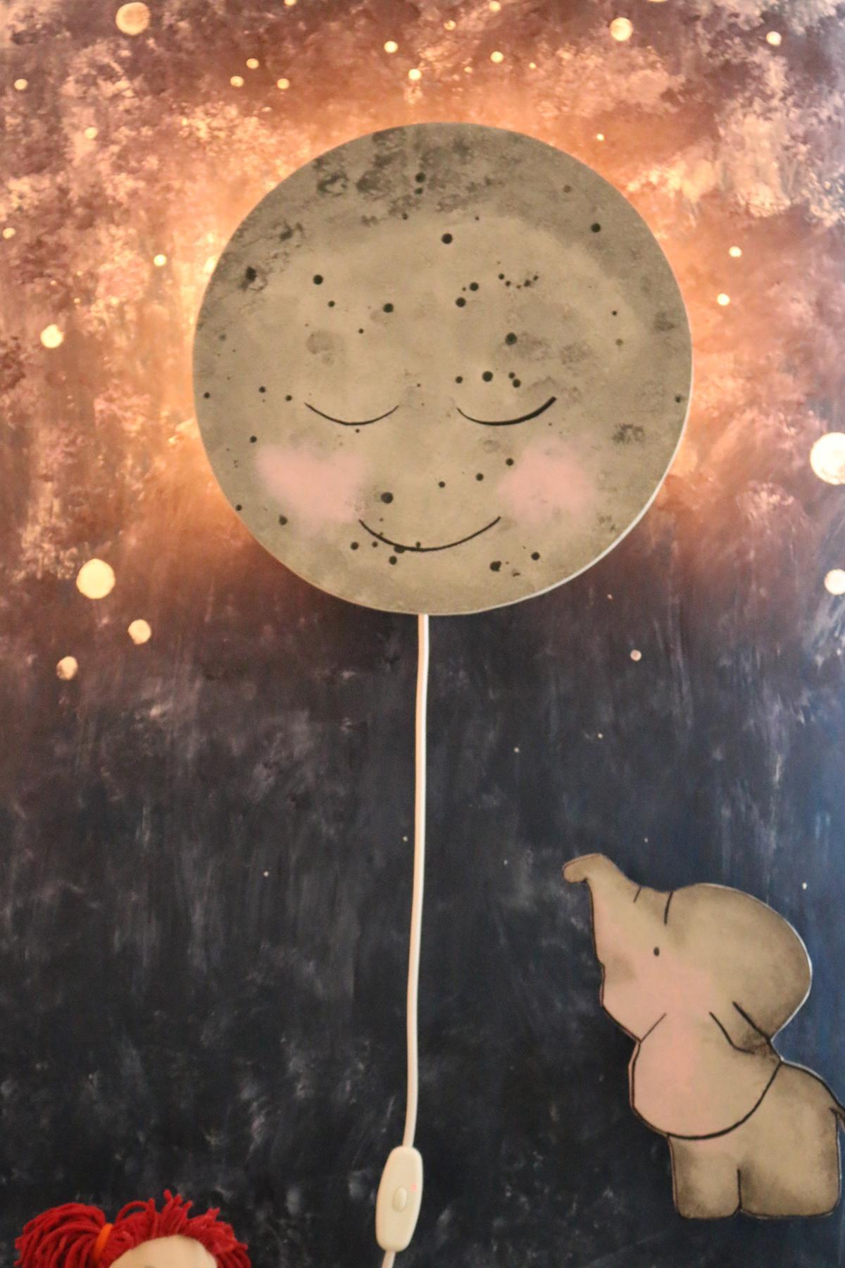 Mondlampe für Kinder selber bauen diy