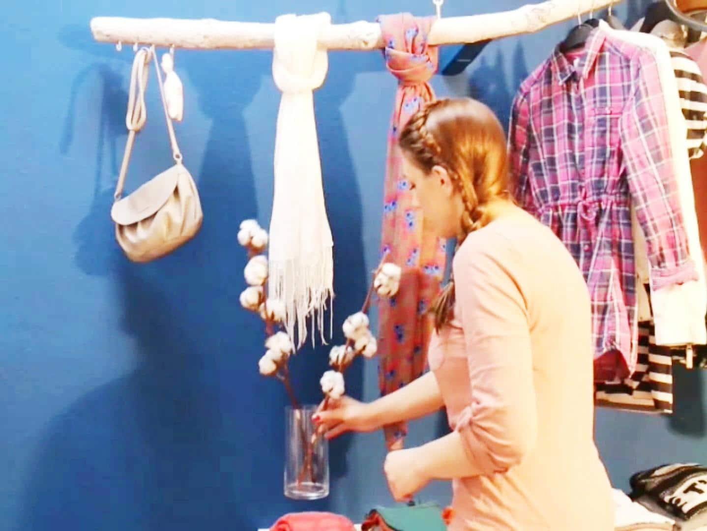 kleiderstange dekorieren