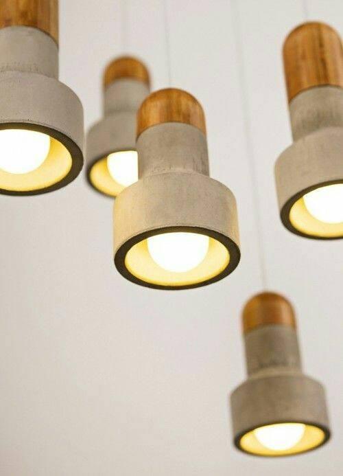 Kreativ Beton - Betonlampe