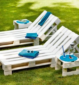 Berühmt Liege aus Paletten - Gartenliege selber bauen & kaufen | Palettenmöbel XD03