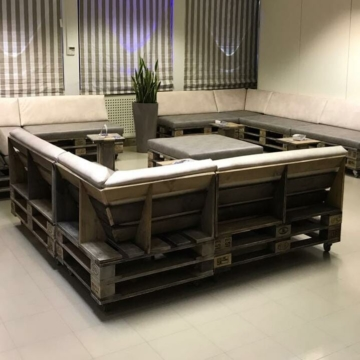 Lounge Sofa Modul aus Europaletten Palettemoebel