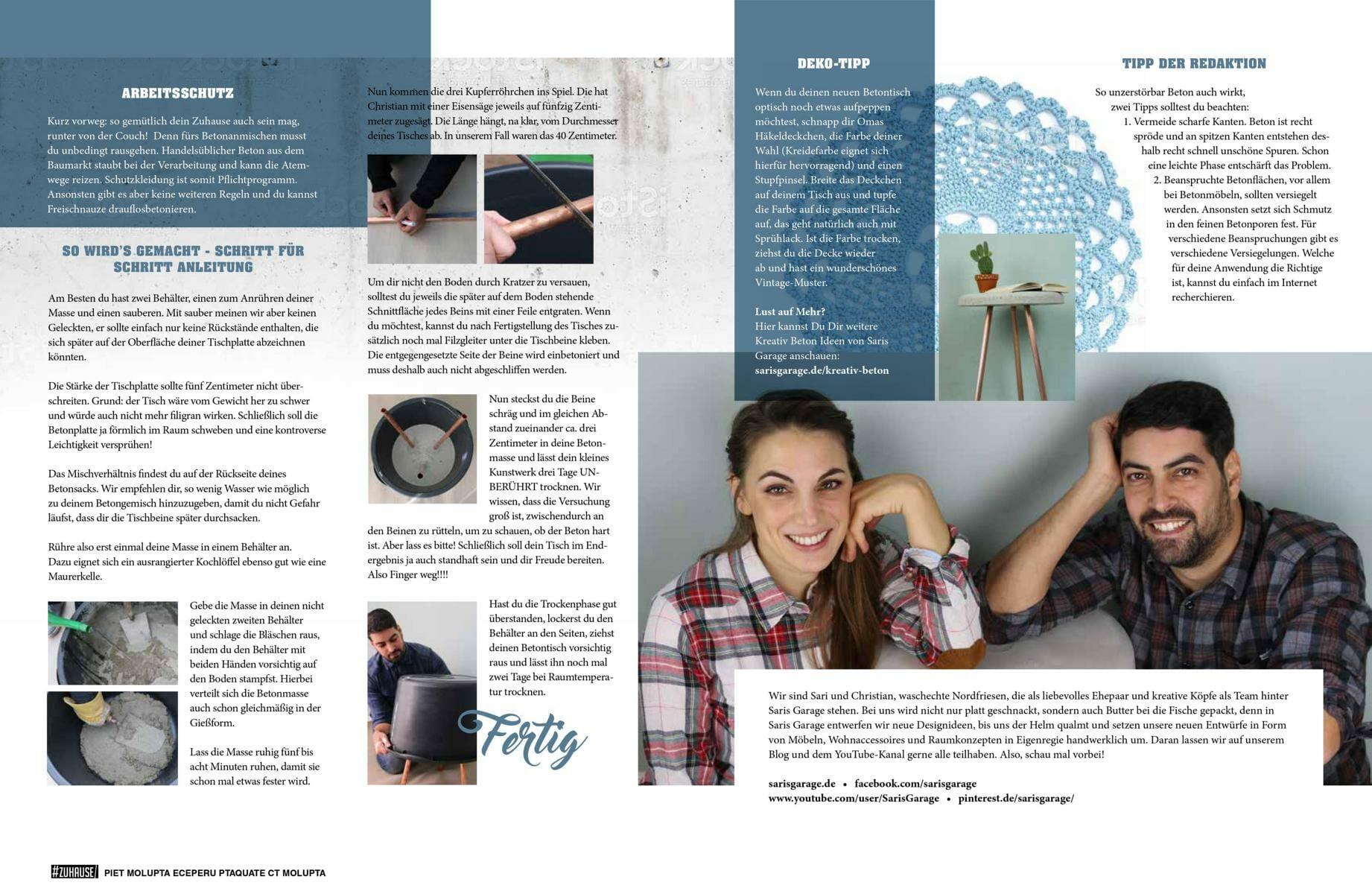Magazin-Zeitungs -Presse Artikel Saris Garage