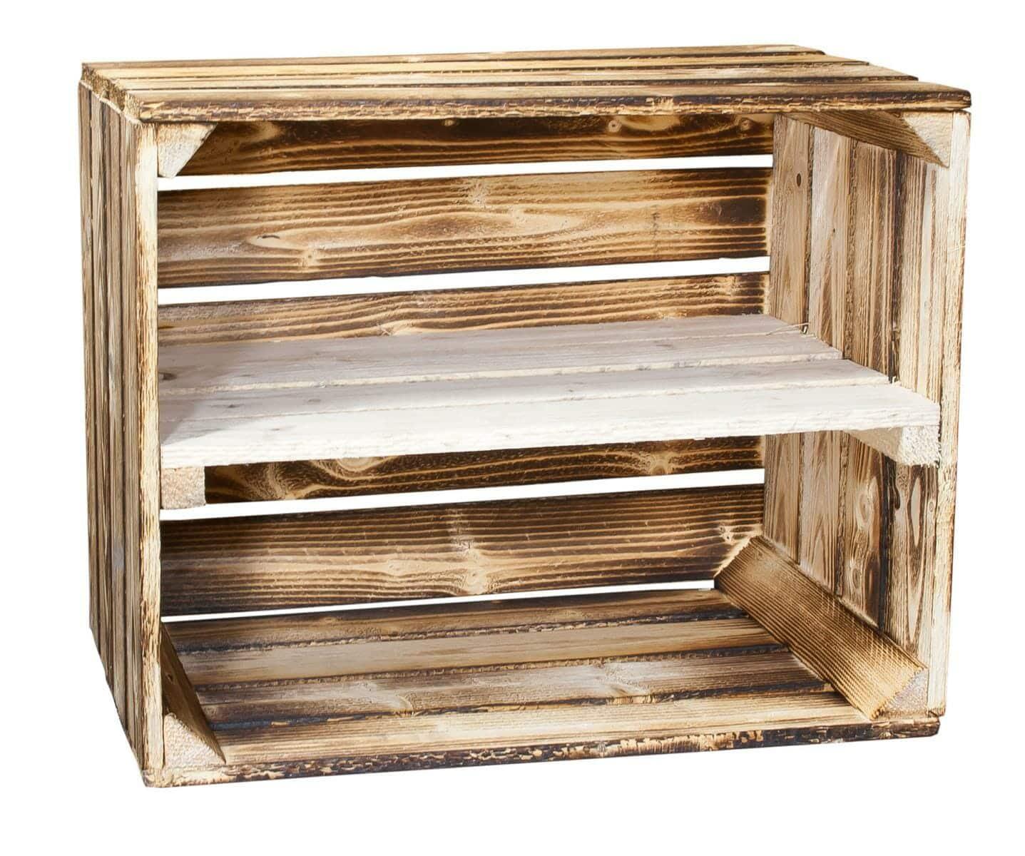 holzkisten regal 50x40x30 ideal als schuhregal deko kiste. Black Bedroom Furniture Sets. Home Design Ideas