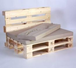 Paletten Lounge Modul mit Palettenkissen Palettenmoebel