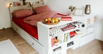 Palettenbett-Bett-aus Paletten