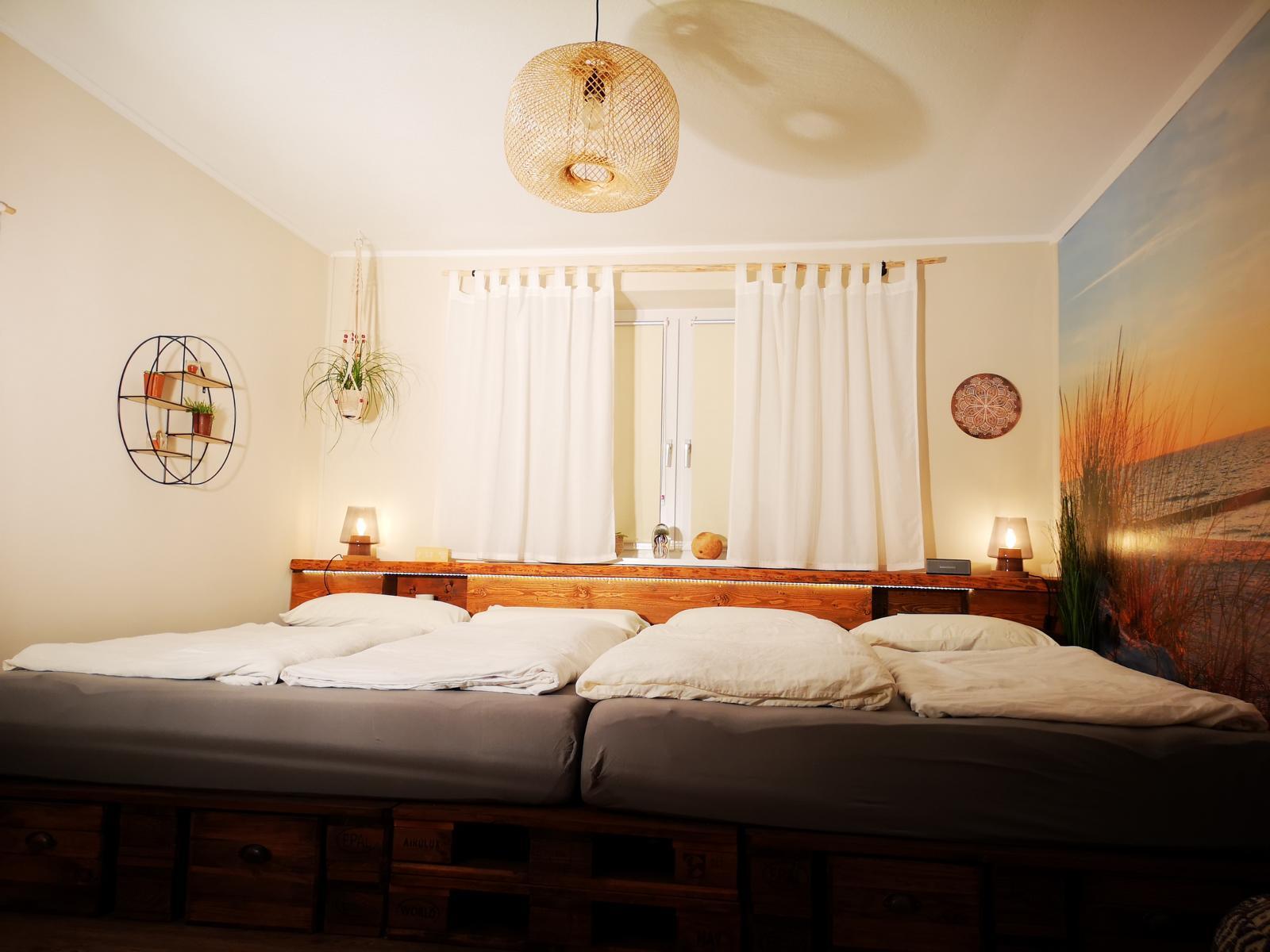Familienbett aus Paletten-Palettenbett