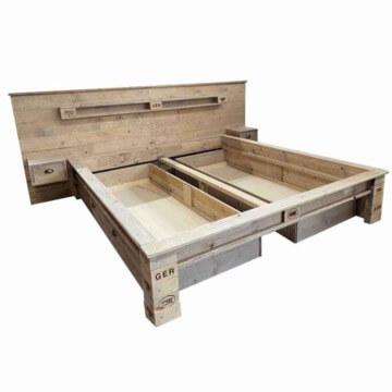 Palettenbett kaufen-Bett aus Paletten-Europaletten Betten