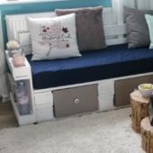 Sofa aus Europaletten-Palettenmöbel