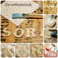Serviettentechnik - How to - Saris Garage - DIY
