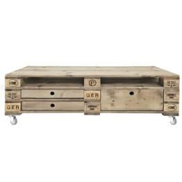 Sideboard mit Schubladen aus Europaletten Palettenmoebel