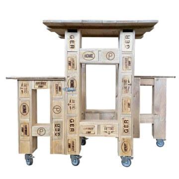 stehtisch sitzkombination aus paletten europaletten m bel shop. Black Bedroom Furniture Sets. Home Design Ideas