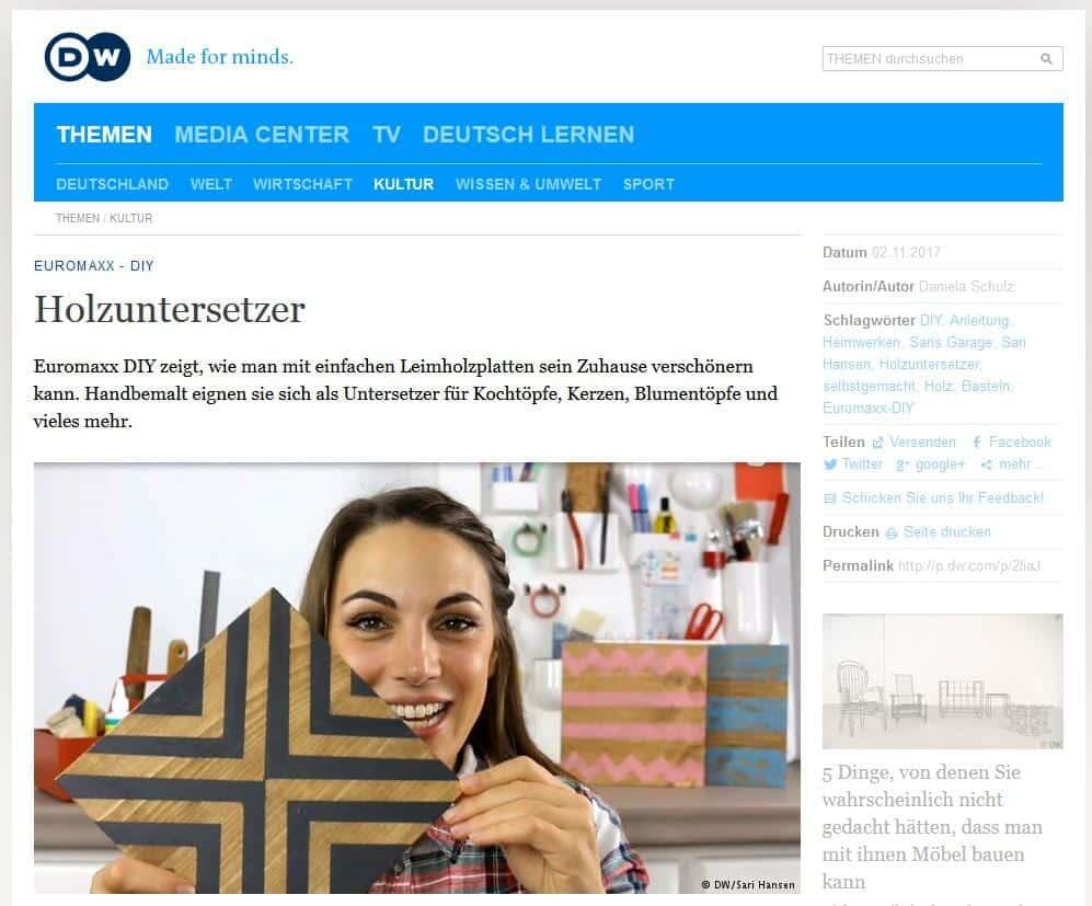TV Auftritt Saris Garage - Deutsche Welle