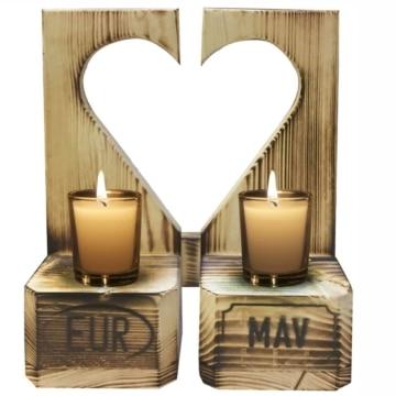 Teelicht Kerzenhalter aus Europaletten Deko
