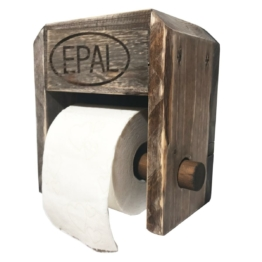 Toilettenpapier Halterung aus Europaletten Palettenmoebel