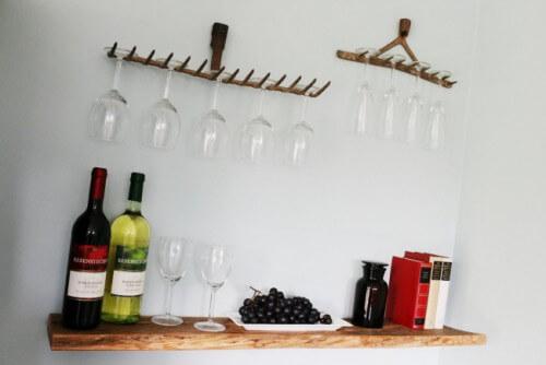 Upcycling - Weingläser aufhängen