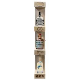 Vertikales Flaschenregal aus Europaletten Palettenmoebel