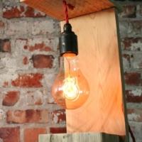 Vintage Lampe aus Paletten