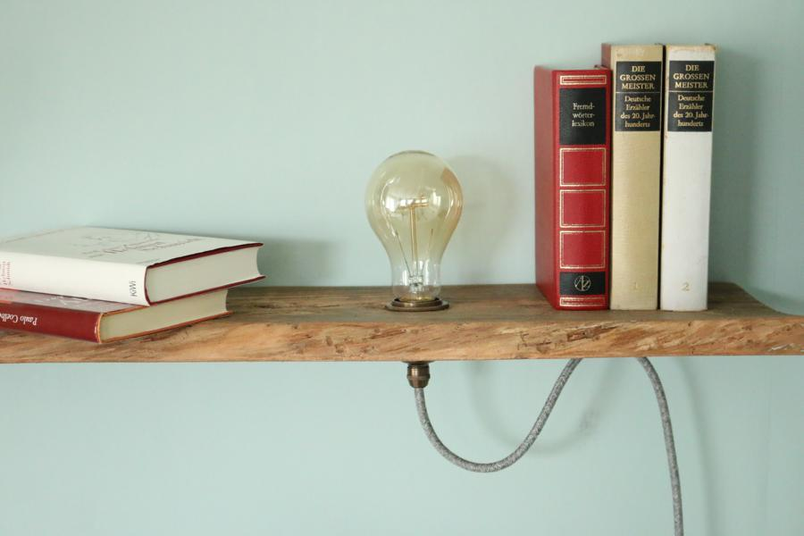 upcycling diy - vintage lampe