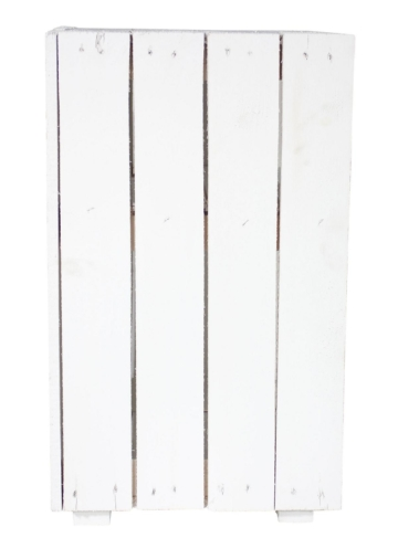 Weiße Regalkiste Obstkiste mit Boden