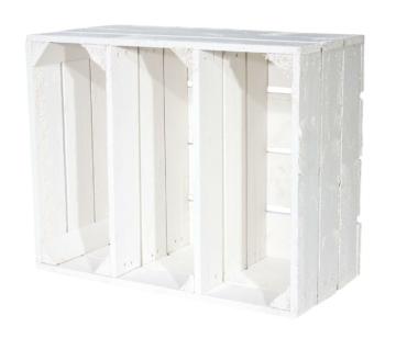 Weißes Holzkisten Regal-Obstkisten weiß