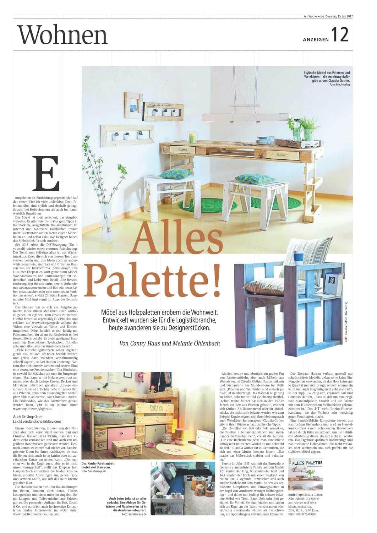 Zeitung Saris Garage Artikel Referenz