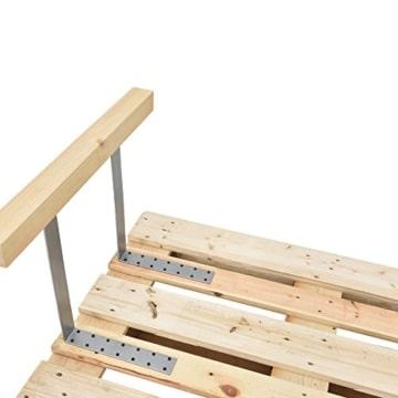 Armlehne & Rückenlehne für Euro-Paletten-Sofa - Couch - Palettenmöbel - massiv Holzoptik -2