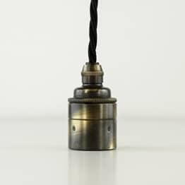 Glattmantel Lampenfassung - Fassung aus Messing - E27 antik gebürstet