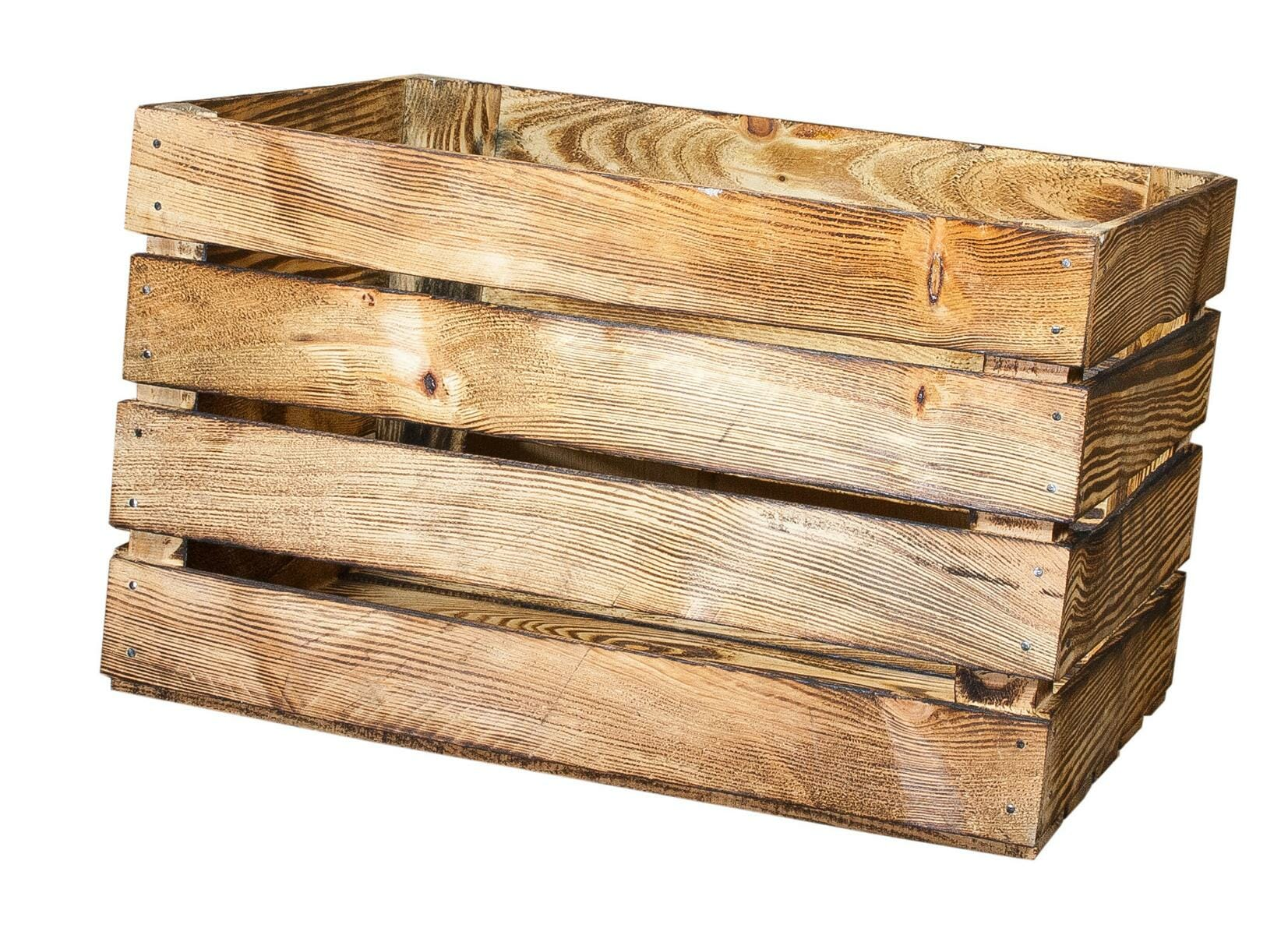 geflammte obstkiste apfelkiste 50x40x30 cm holzkisten shop. Black Bedroom Furniture Sets. Home Design Ideas