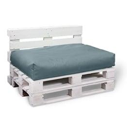 Palettenkissen - 2er Set - Sitzpolster mit Rückenkissen - In & Outdoor