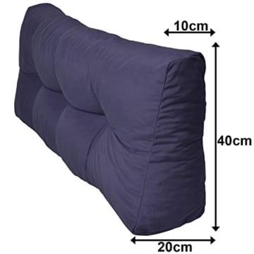 Palettenkissen wählbar - Rückenkissen 1-teilig und 2 teilig & Sitzkissen - viele Farben-3