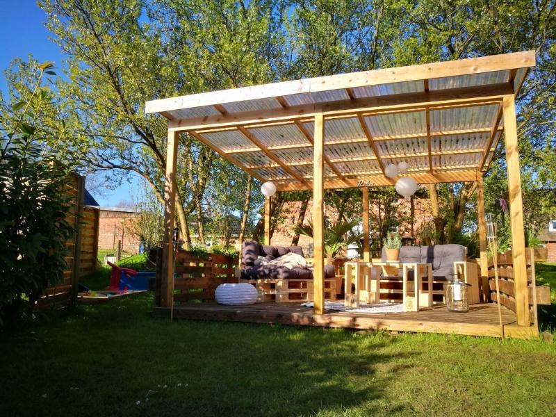 terrasse aus paletten selber bauen palettenmoebel diy