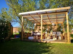 Palettenmöbel Terrasse selber bauen (2)